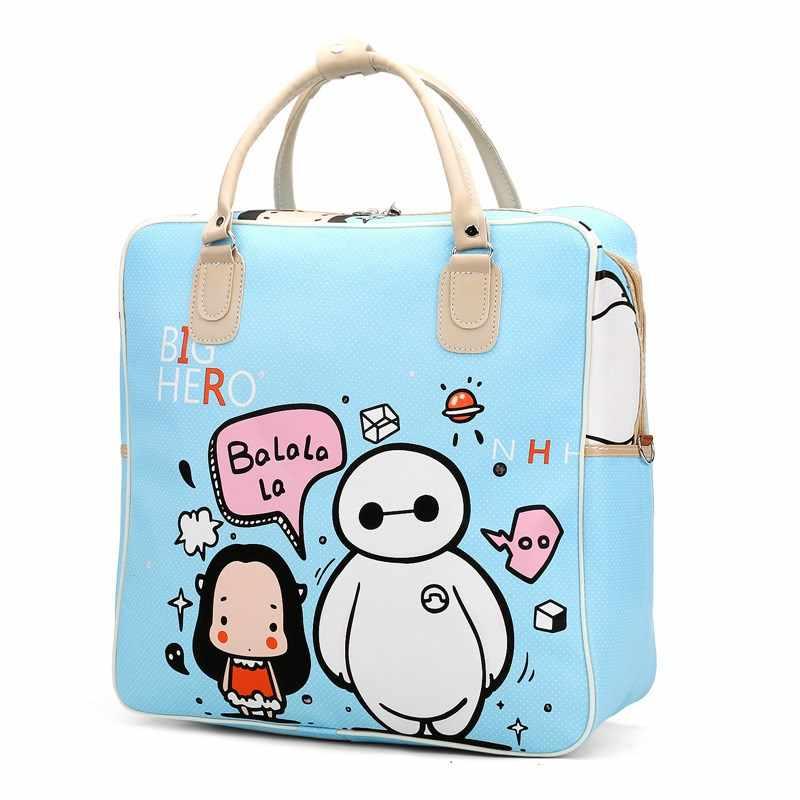 62ef0f4fb4c3 ... Hot hello kitty Female High-capacity Luggage bag fashion Travel Bags  Weekend Travel Large Tote