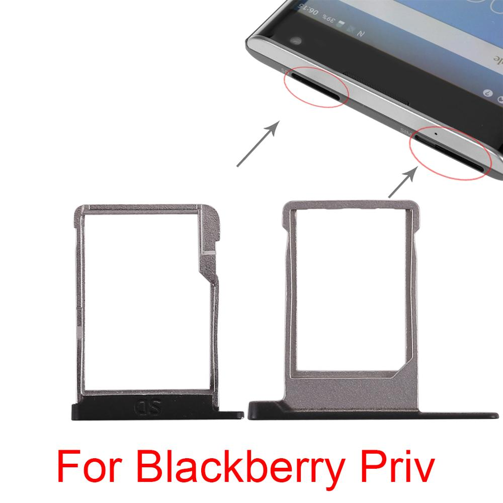 For BlackBerry Priv New Original SIM Card Slot SD Card Tray Holder Adapter Replacement For BlackBerry Priv Cell phone(China)