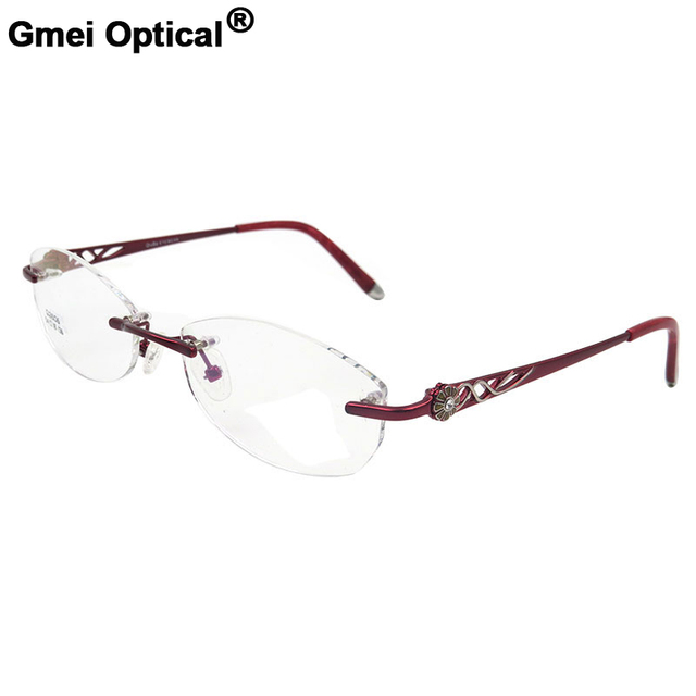 Gmei S2606 Optik Kacamata Tanpa Bingkai untuk Wanita Rimless Eyewear  Kacamata 9b212055d0