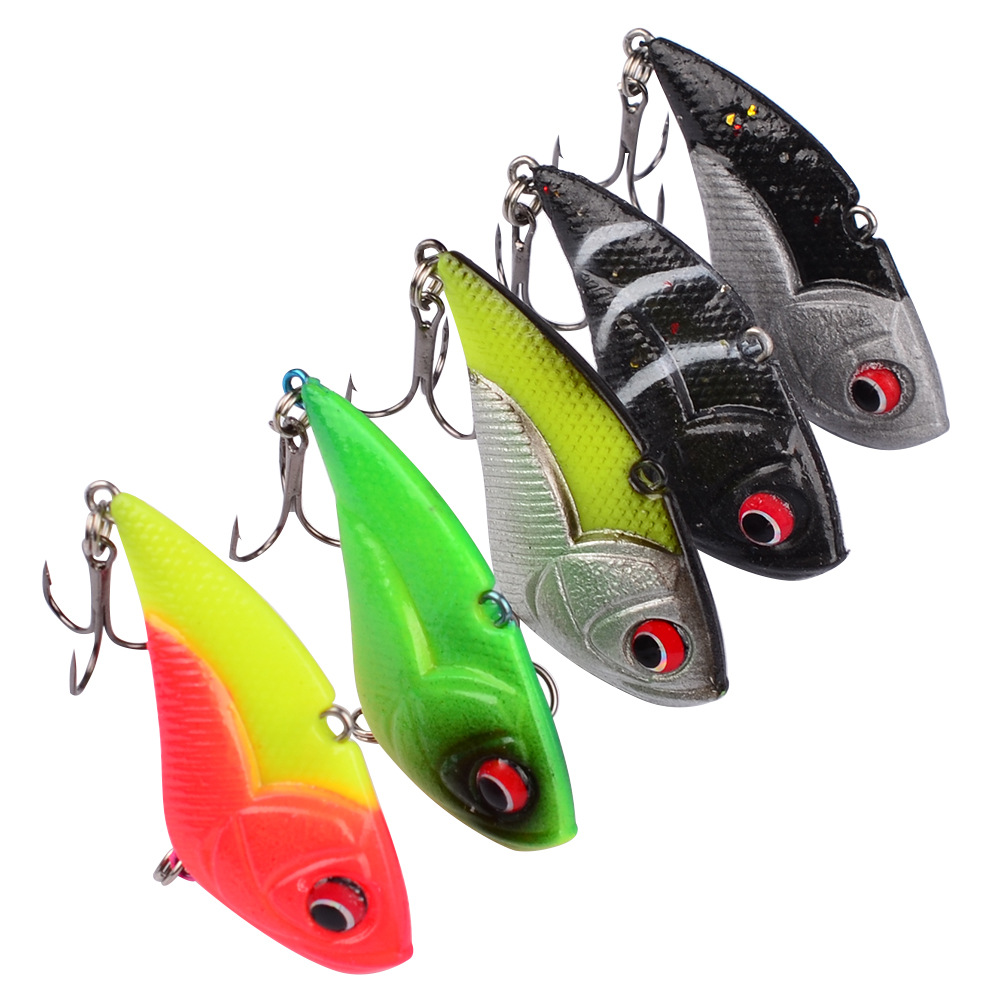13g/5cm Winter Fishing Lures Hard Bait VIB With Lead Inside Lead Fish Ice Sea Fishing Tackle Swivel Jig Wobbler Lure Baits L24 new 12pcs 7 5cm 5 6g fishing lure minnow hard bait sea fishing tackle crankbait fishing kit jig wobbler lures bait with hooks