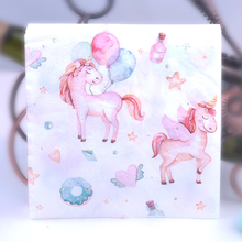 20pcs 33*33cm balloon Unicorn theme Paper Napkin Tissue for kids birthday party decoration