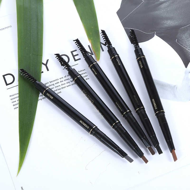 HANDAIYAN 5 renk çift uçlu kaş kalemi su geçirmez uzun ömürlü hiçbir çiçeklenme dönebilen üçgen göz kaş dövme kalem