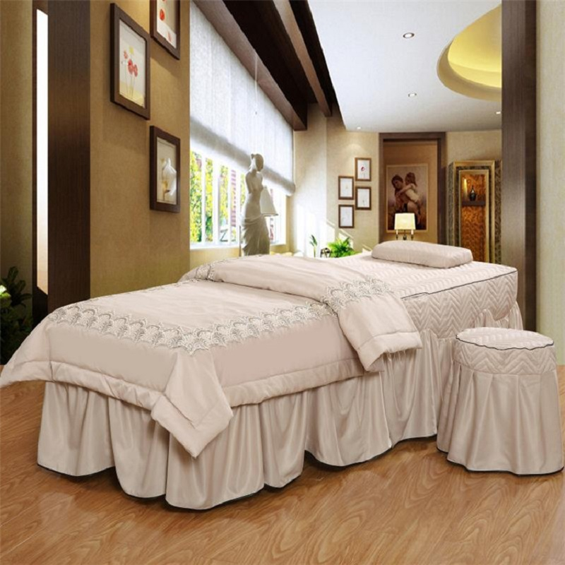 Modal Jacquard Beauty Salon Bedspread 1pcs Massage Parlour Spa Fumigation Bedding Kit Fitted Bed