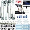 DC12V Car/Auto Universal 4 Doors Electronice Power Window kits With 8pcs/Set Swithces and Harness #FD-2845