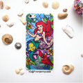 2016 the little mermaid glitter star fish protección duro de la cubierta case para iphone 6/6 s/6 plus/6 splus/7/7 plus océano mundo divertido case