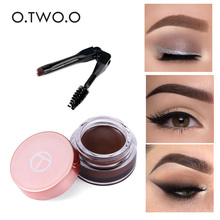 1pcs Eyebrow Gel 6 Colors 3D Natural Brown Eye Brow Shade Make Up Profesional Long Lasting Brow Paint Cosmetics With Brush