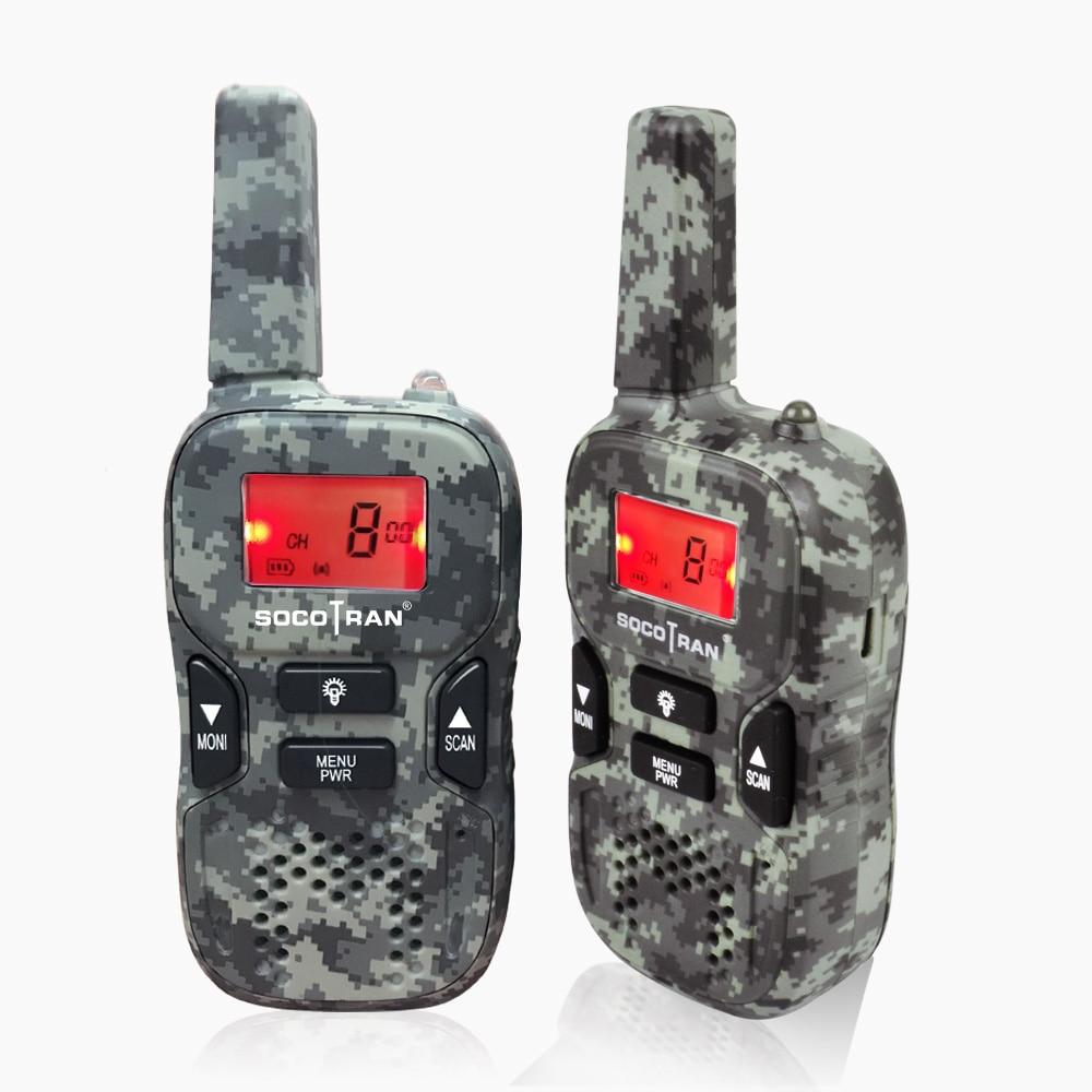 A Pair Mini Walkie Talkie For Kids Socotran R8 Portable 2 Way Radio 0.5W PMR 446MHz PMR446 USB Charging VOX Radio For Kids