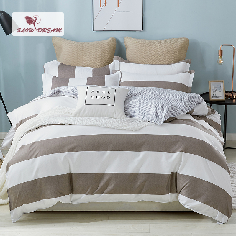 SlowDream Geometry Comforter And Bedding Set Bed Linen Euro Sheet Double Duvet Cover Bedspread Nordic