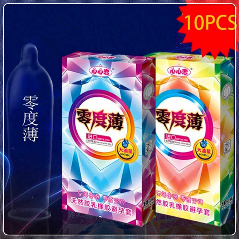 10 Pcs Particles Ultra-thin Latex Intimate Goods Dick Condoms Sex Products Lubrication Safety Delay Penis Contraception Condom