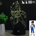 HY Dragon Ball Z Vegeta 3D Remote LED Night Light Touch Table Desk Lamp 7 Color Change USB LED Charger Gift Multifunction Card