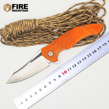 BMT Tactical Ball Bearings MDF-1 Flipper Survival Folding Knife with D2 Blade G10 handle camping Pocket Knife Multi Tools
