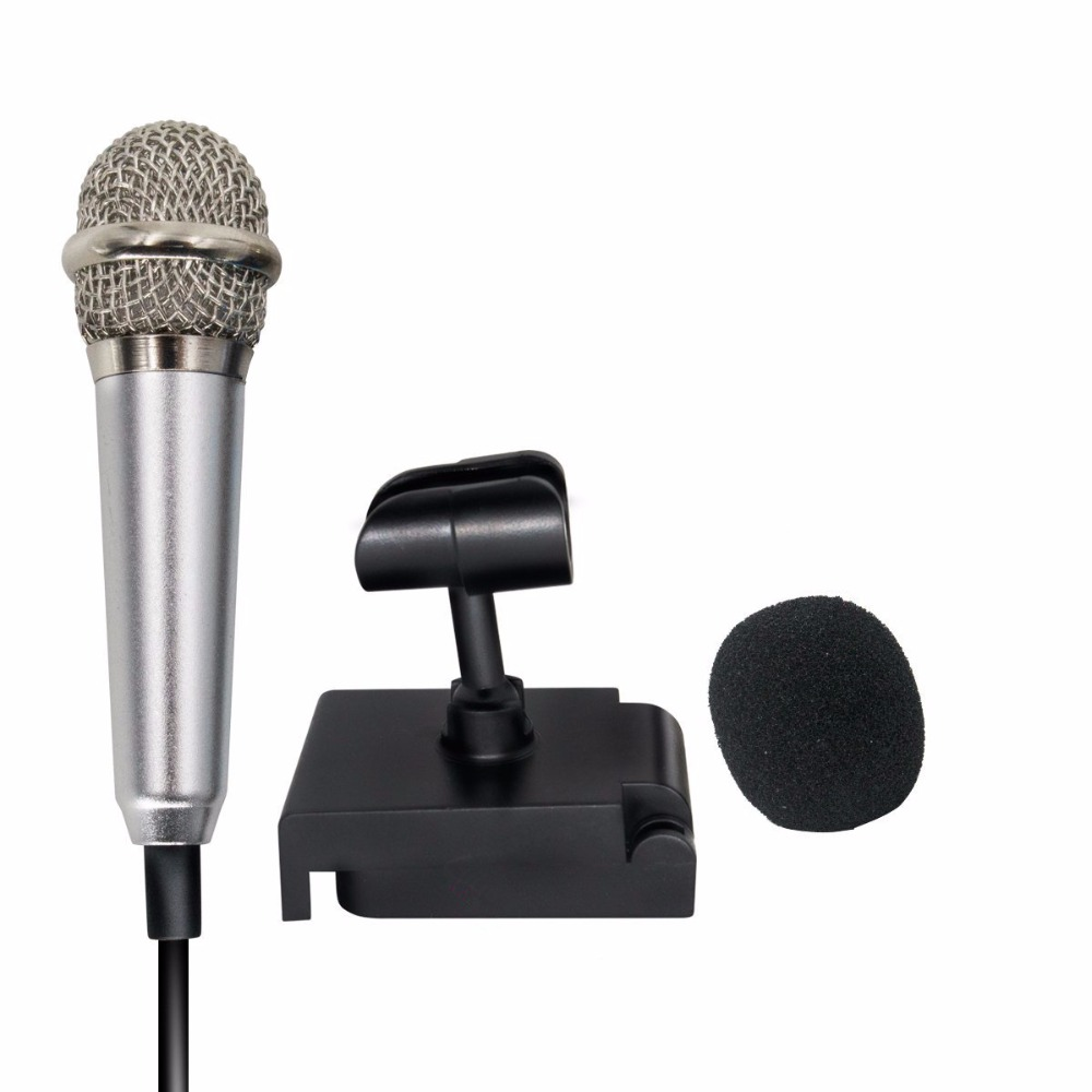 3.5mm Mini Karaoke Condenser Microphone for Mobile Phone PC Chatting Singing New