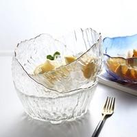Itrintal Transparen Glass Bowl Salad Fruit Dessert Soup Bowls European Style Kitchen Tools 1000ml