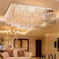 Luxury 70 70cm Crystal Hanging Ceiling Light Free Shipping Modern Living Room Hotel Lobby Restaurant Ceiling