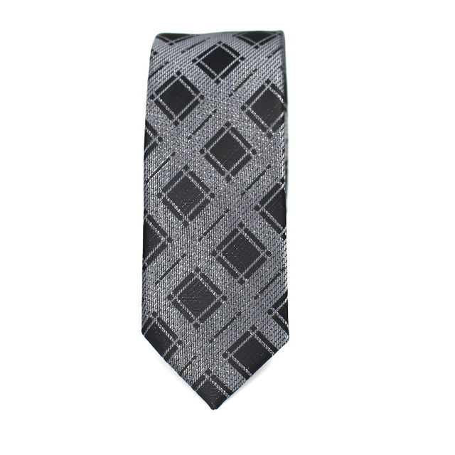 New Men's casual slim ties Classic polyester woven party Neckties Fashion Plaid dots Man Tie for wedding Business Male tie 4