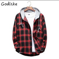 GODLIKE In 2018 Men S Winter Thick Hooded Shirt Men S Fashion Business Casual Long Sleeve