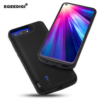 Silicone shockproof Portable Battery Charge Case For Huawei Honor V20 6500mAh External Charging Power Bank Cover Battery Case