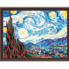 Frameless Pictures Painting By Numbers DIY Digital Oil Painting On Canvas Romantic 40x50cm A Starry Sky