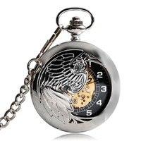 Gift Steampunk Automatic Mechanical Trendy Pocket Watch Self Winding Men Pendant Vintage Phoenix Stylish Chain Elegant