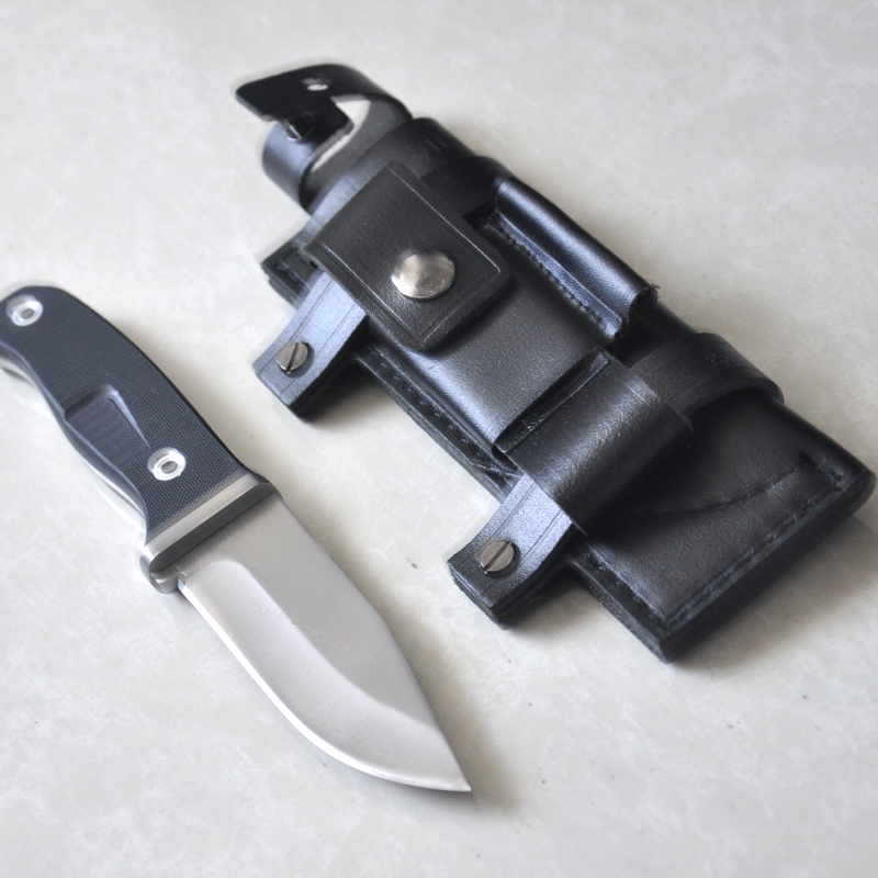Brand camping knife blade material ATS34 Blade +G10 handle 59HRC hunting knives outdoor Tools with Leather SheathBrand camping knife blade material ATS34 Blade +G10 handle 59HRC hunting knives outdoor Tools with Leather Sheath