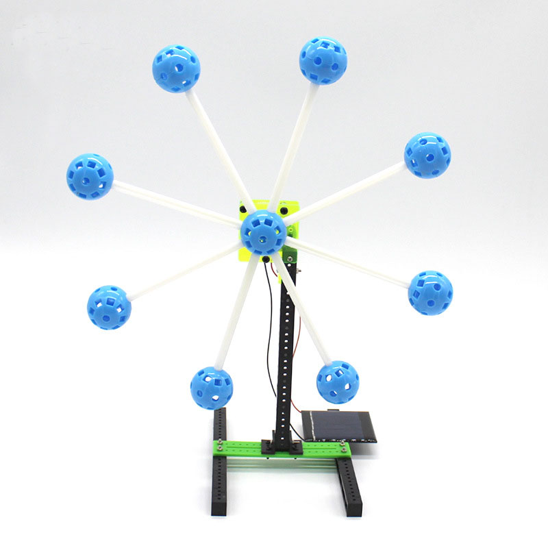 Creative Science Experiment DIY Solar Energy Ferris Wheel Handmade Toys Kids Puzzle Assembled Kits Physical Teaching Resources