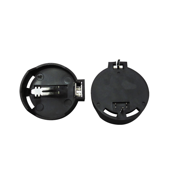 HAILANGNIAO 10PCS CR2032 2032 Battery Button Cell Coin Holder Socket Case Black