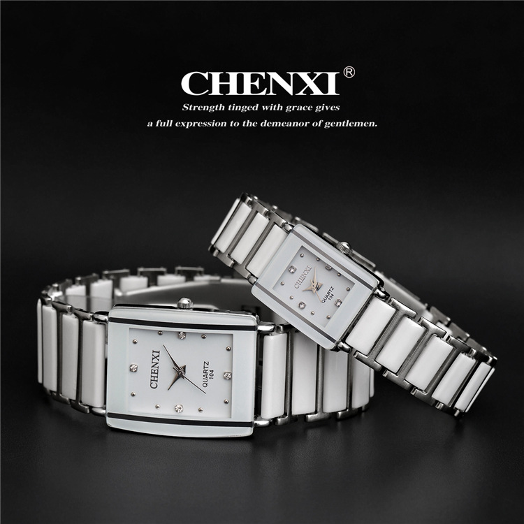 2018 CHENXI Watch Women Famous Watches Men Top Brand Luxury Wristwatch Male Female Clock Quartz Wrist Watch Ceramic Quartz Watch