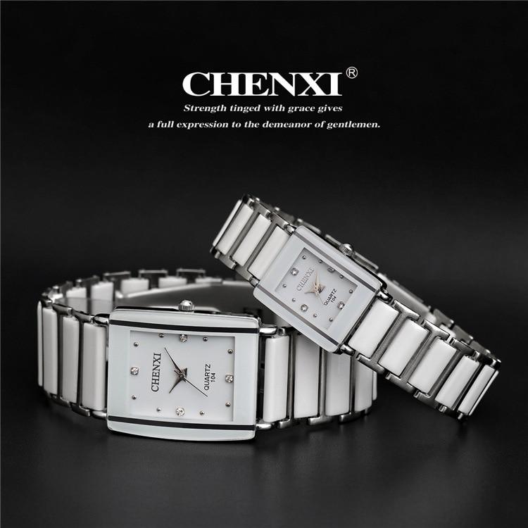 2018 CHENXI Watch Women Famous Watches Men Top Brand Luxury Wristwatch Male Female Clock Quartz Wrist Watch Ceramic Quartz Watch