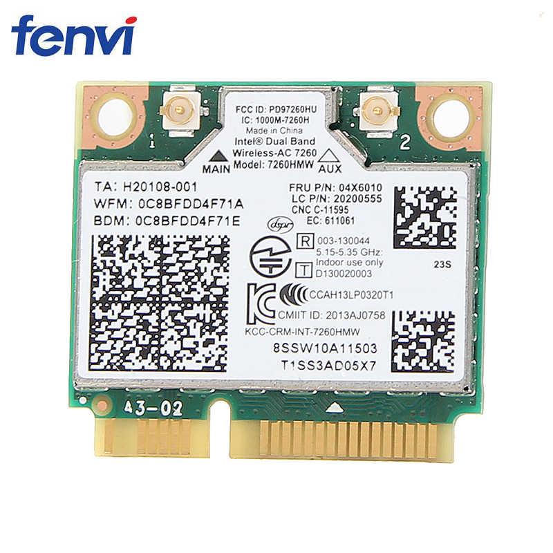 IBM Lenovo Thinkpad carte wifi sans fil Intel sans fil-ac 7260 7260HMW 867 Mbps 802.11 ac Mini PCI-E double bande FRU: 04X6090
