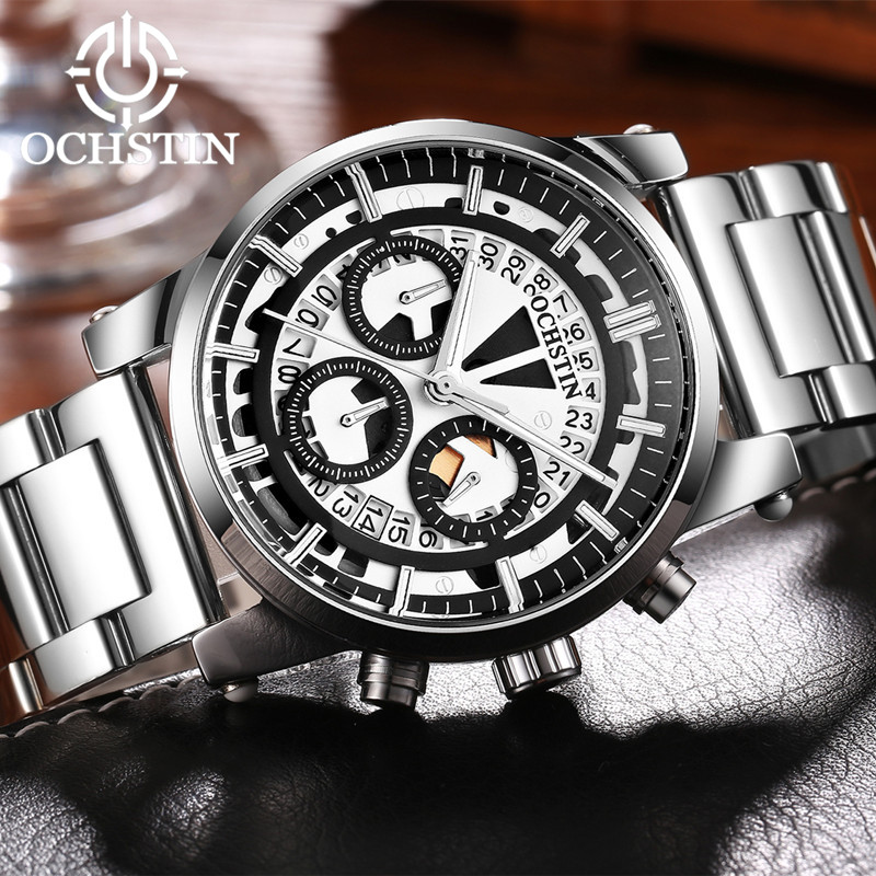 OCHSTIN Men's Chronograph Watches Top Brand Luxury Sport Watch Military Quartz Wrist Watch Men Clock Fashion Male relojes 2017 ochstin luxury watch men top brand military quartz wrist male leather sport watches women men s clock fashion wristwatch