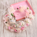 Pink/White Flower Wedding Headbands Prom Tiara Headpiece Bridal Hair Accessories romantic bridal tiaras
