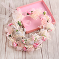 Rosa/Flor Blanca Diademas de Novia Prom Tiara Celada de Novia tiaras Accesorios Para el Cabello nupcial romántica