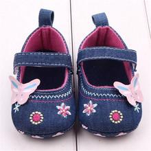 LONSANT First Walker Fashion Baby buty Butterfly Soft Sole Toddler buty niemowlę chłopiec buty Dropshipping hurtownia tanie tanio Dziewczynka Tkanina bawełniana Stałe Bawełna Klamra pasek Kwiat Wszystkie sezony Pasuje do rozmiaru Weź swój normalny rozmiar
