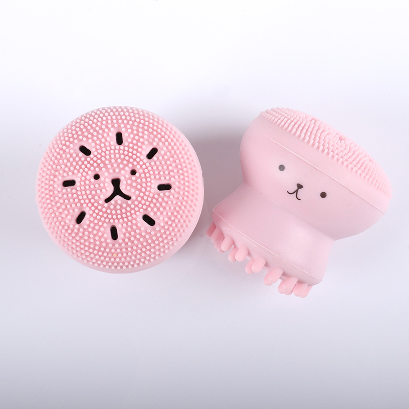 100pcssmall Octopus Face Brush Alice Hut Pink Jellyfish Remover