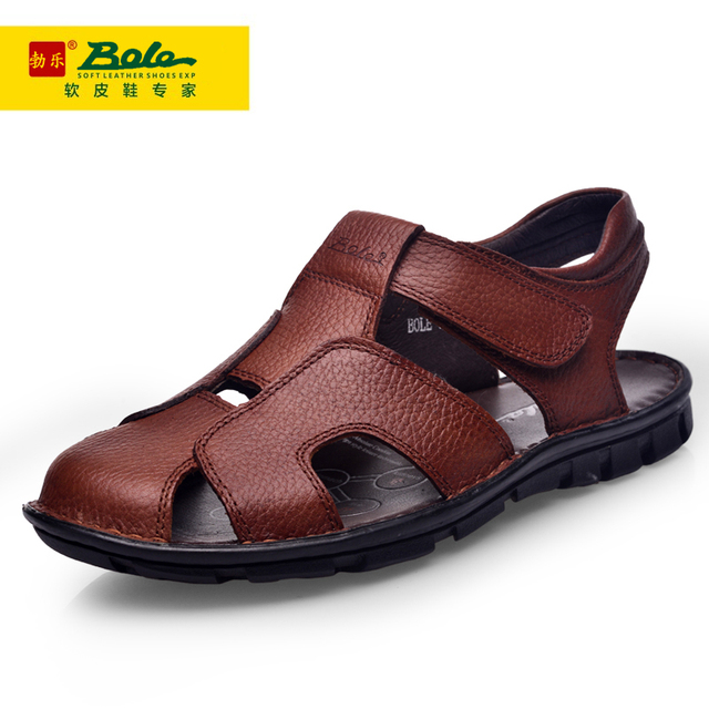 88f69602f9c64 Summer leather daily manual men s sandals in the elderly leisure shoes  comfortable and breathable Leather Sandals Shoes