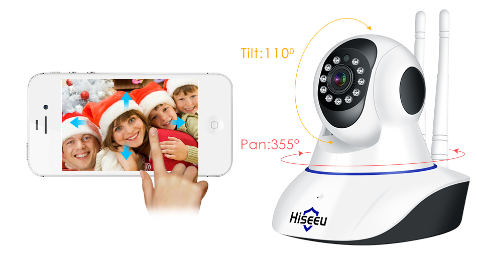 HTB1O.mdXQ9E3KVjSZFGq6A19XXav Hiseeu Home Security 1080P 3MP Wifi IP Camera Audio Record SD Card Memory P2P HD CCTV Surveillance Wireless Camera Baby Monitor