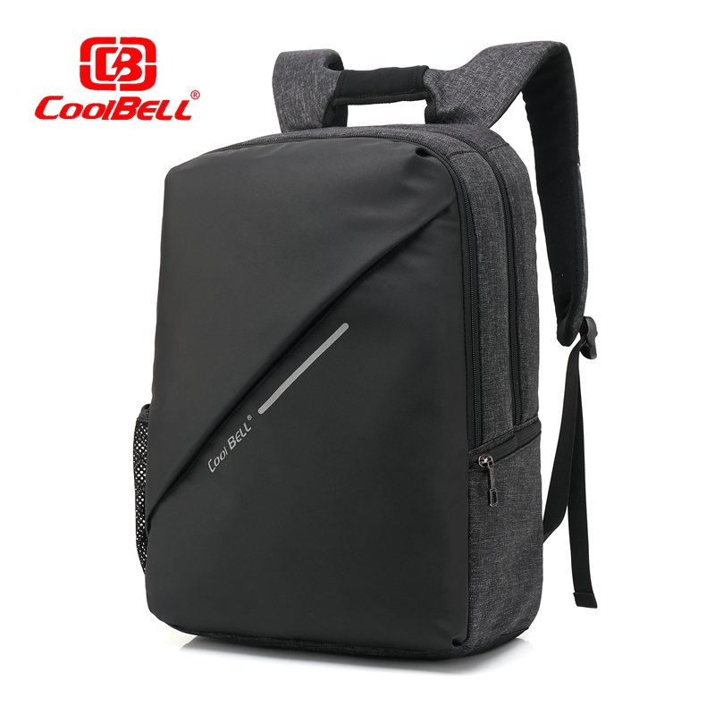 Cool bell 2017 New Design 15 inch Laptop Backpack External USB Charge Computer Anti-theft Shockproof Travle Bags for Men Women cool bell anti theft notebook backpack 15 6 inch waterproof computer backpack for men women external usb charge laptop bag