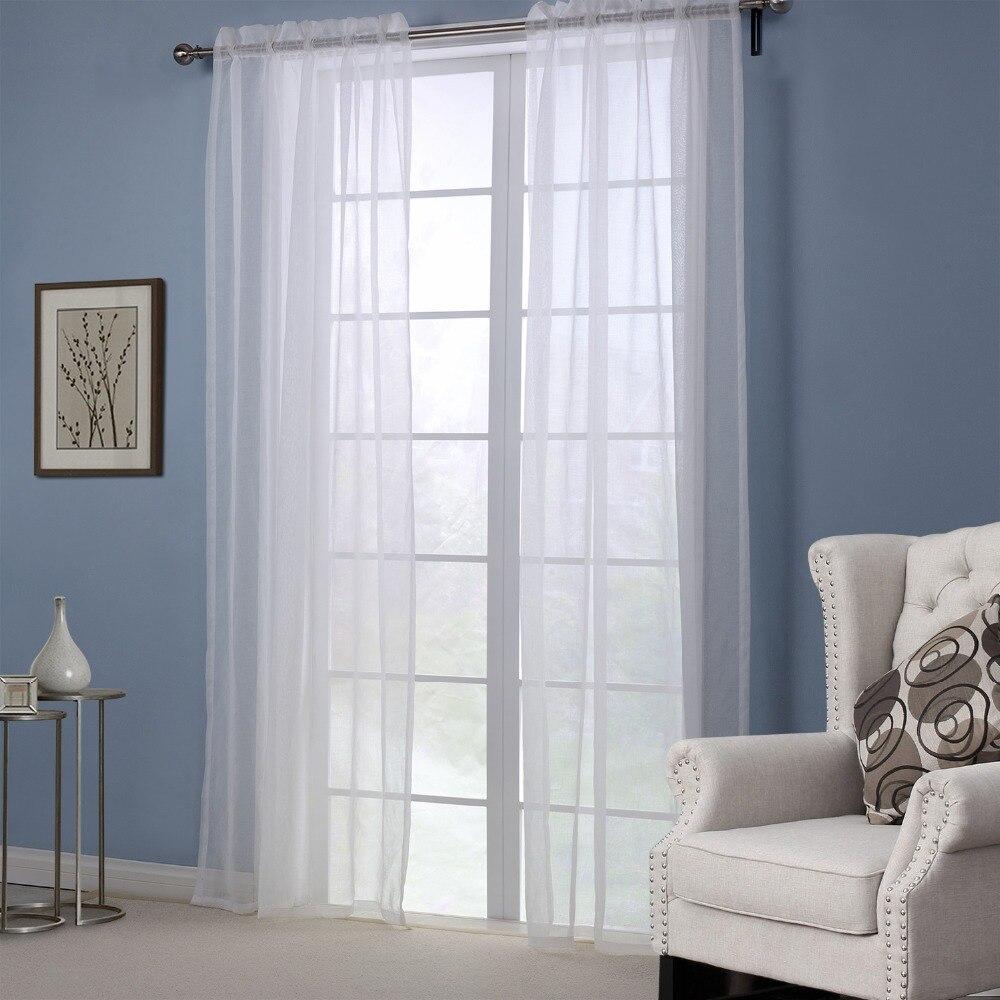 envo gratis polister cortinas modernas para sala de estar slido cortinas blancas casa decorativo ventana escarpada en cortinas de hogar y jardn en