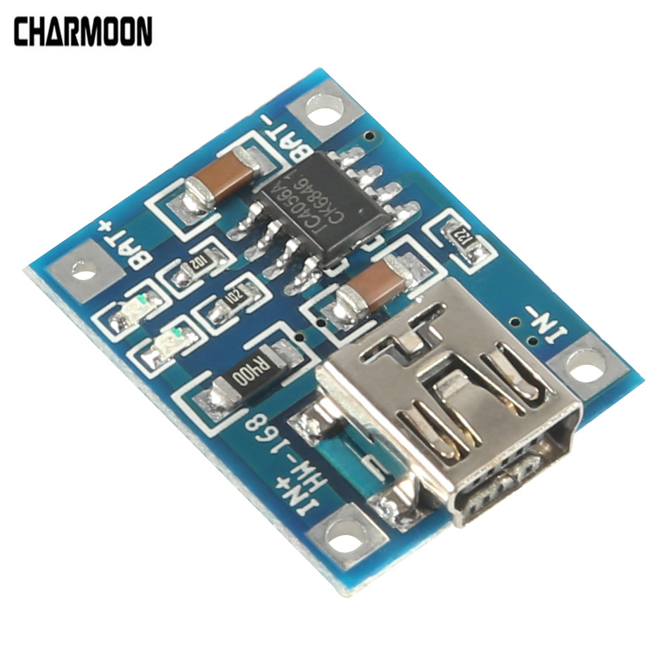 TP4506 Lithium Battery Charger Module MINI USB 5V 1A TP4056 Charging Board With Protection Dual Functions 1A TC4056