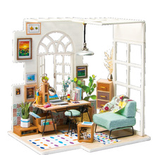 Assemble DIY Doll House Toy Wooden Miniatura Doll Houses Miniature Dollhouse toys With Furniture LED Lights Birtday Ghift DGM01