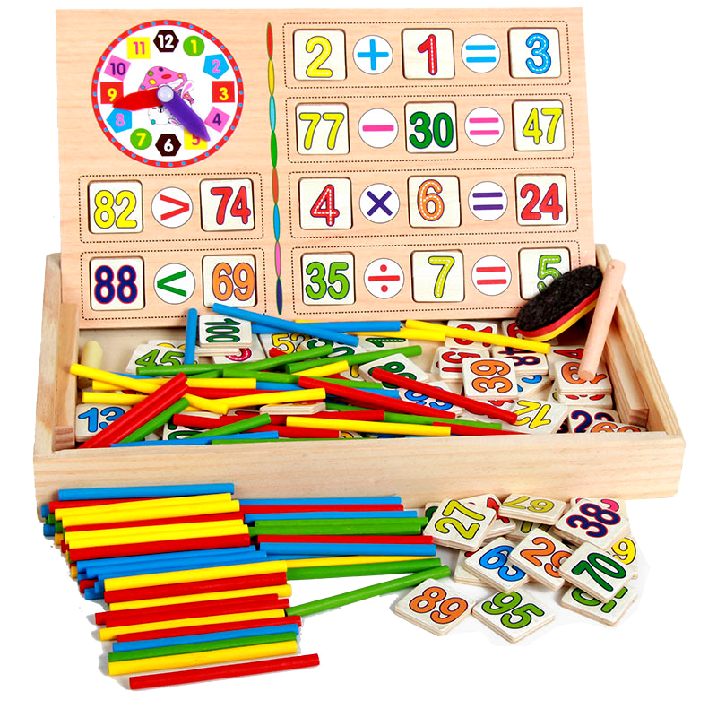 Magic sticks baby wooden math toy mathematics Educational toys for kids 3 years old montessori science preschool brinquedos baby стоимость