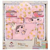 Monkey Banana newborn clothes winter baby gift box set baby products newborn baby girl boy set 12/1718 pcs for 0 3 month