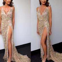 65a62fc08 JOYINPARTY club de noche elegante vestido 2017 vestido de las mujeres  vestidos de fiesta mujer sexy vestidos lentejuelas de oro .