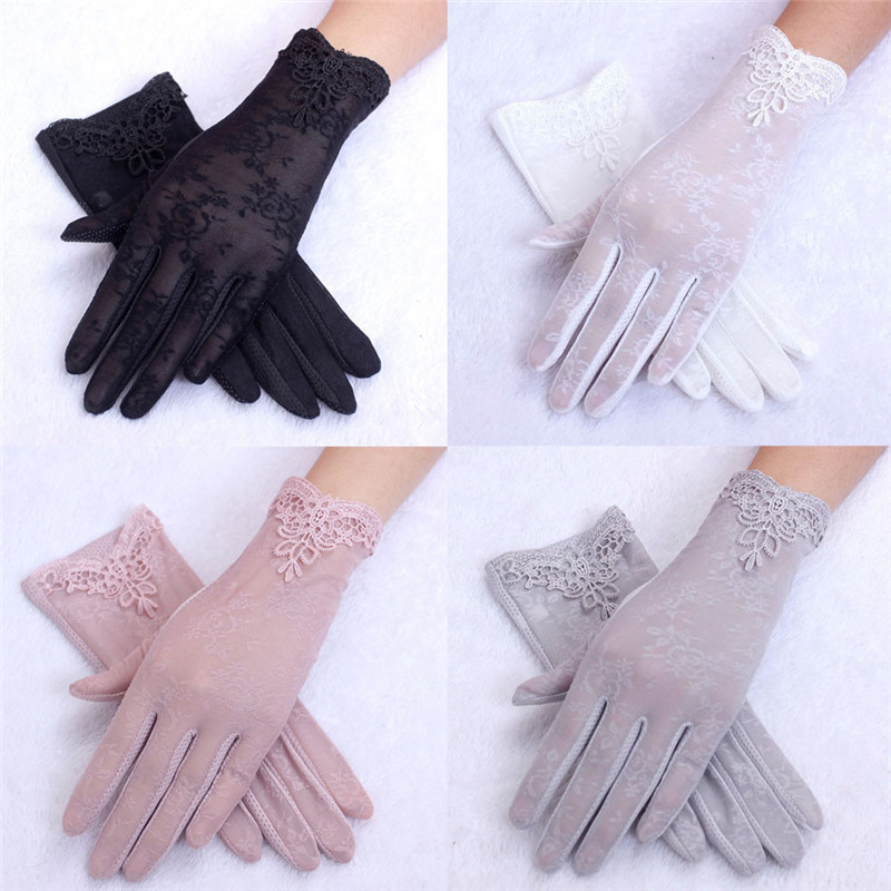 Women's Summer UV-Proof Driving Gloves Gloves Lace Gloves Luvas Hand Gloves Guantes Eldiven Handschoenen #2O28