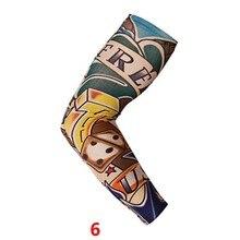 1 ШТ. Новый Нейлон Эластичный Череп Татуировки Рукава Мужчины Женщины Поддельные Временные
