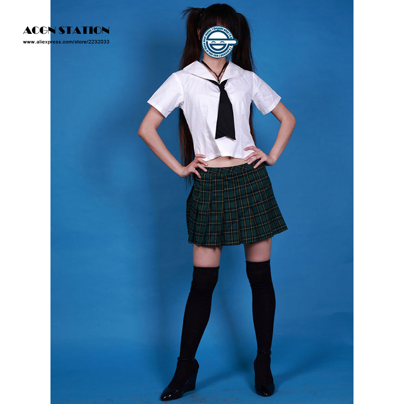 2018 Customize for plus size adults Free Shipping Lovely Short Sleeves Girl School Sailor Uniform Halloween Cosplay Costume