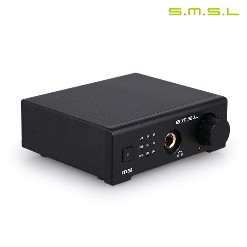 Amplificateur casque SMSL M3 DAC CS4398 OTG/PC USB/optique/Coaxial tout-en-un Hifi 24Bit 96KHZ USB Hd pour décodeur Audio Hifi