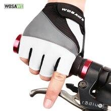 WOSAWE Alta Calidad guantes Ciclismo guantes Bicicleta de la bici 3D GEL A Prueba de Golpes Deportes Medio Dedo Guantes de Los Hombres