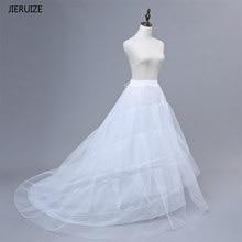 f9fd702564387c JIERUIZE Gratis verzending Hoge Kwaliteit Wit Petticoat Trein Crinoline  Onderrok 3-Layers Voor Trouwjurken Bruidsjurken