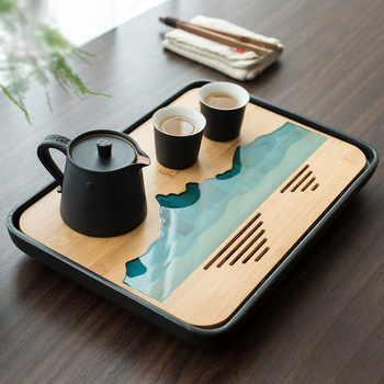 TANGPIN plastics and bamboo tea trays tea table handmade serving tray kung fu tea accessories tangpin coffee and tea tools tin tea strainers handmade kung fu tea accessories
